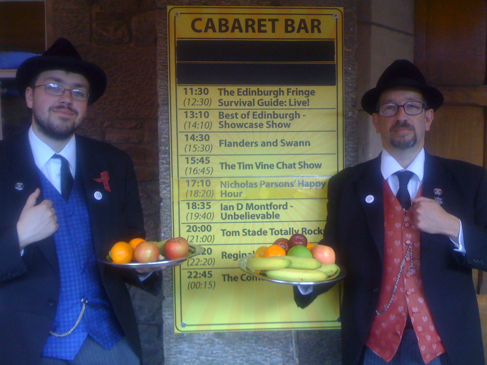 The Butlers welcome audiences to the Edinburgh Fringe Survival Guide: Live!